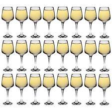 """Tallo """"colore bianco contemporaneo vino bicchieri-x24 - 295ml"""