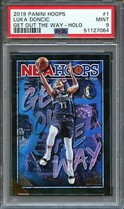 2019 PANINI HOOPS LUKA DONCIC GET OUT THE WAY HOLO PSA 9