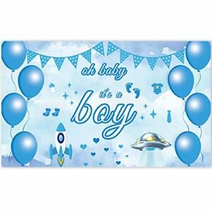 Ushinemi Its a Boy Banner for Baby Shower Outdoor Yard Sign, Blue, Its Boy