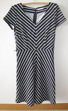 Ladies TARGET Black Striped Dress Size 10