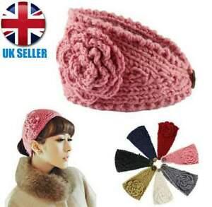 Women Turban Crochet Twist Knitted Headwrap Headband Winter Warmer Hair Band