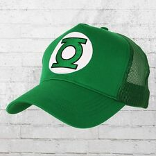 LOGOSHIRT Cap DC LANTERNA VERDE LOGO Stick Mesh Trucker truckercap verde ha cappuccio