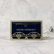 Gold Lasercut Art Deco Great Gatsby Place Card