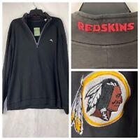 NFL Tommy Bahama Washington Redskins Goal Line Half-Zip Sweatshirt XL