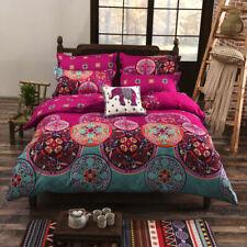 Quilt/doona Cover Set Mandala Bed Linen Pillowcases Duvet Covers Queen Size