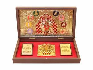 Gold Plated Ambe Maa Durga Ma Photo Frame for Gift Home Decor