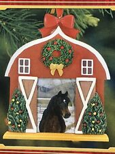 Breyer #700718 Horse Holiday Photo Frame Ornament 3rd In Collectible Series Nib