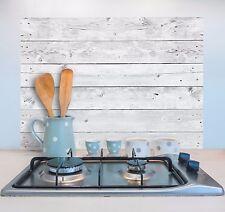 Wandsticker Klebefolie Aufkleber Spritzschutz Küche Bad Spüle Holz-Optik Shabby