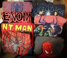 #6 LOT OF 9 MEN'S SHIRTS SIZE MEDIUM Spiderman - Avengers - Venom - Antman Used