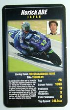 1 x card Top Trumps MotoGP The riders Norick Abe Japan