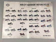 Harley Davidson Motorcycles Dealer Reference Guide 2017 Live Your Legend Poster