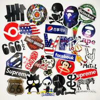 30 Stickers Vinyl Skateboard Guitar Travel Case Pack Tide Brand Logo Decals