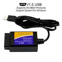 ELM327 V1.5 Mini 16PIN USB Scanner OBDII OBD2 Car Code Reader Diagnostic Tool