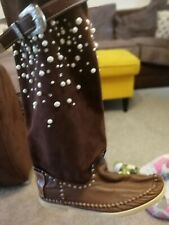 American Mocassin Boots. Cowboy Cute Size 6 Womens Boots