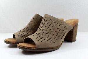 TOMS Majorca Mule Desert Taupe Suede Sandal NEW NIB Size 12 $109 Retail