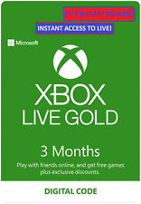 INSTANT 3 MONTH XBOX LIVE GOLD MEMBERSHIP XBOX 360 / XBOX ONE FAST DISPATCH