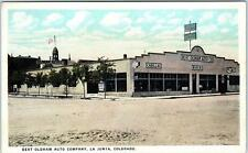 LA JUNTA, CO Colorado  Bert Oldham AUTO DEALERSHIP Cadillac  1925  Postcard *