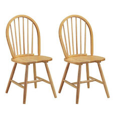 Wooden Windsor Style Chair - Set of 2 - Furniture Modern Dining Living Room