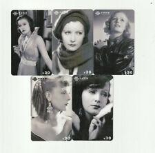 (5) Rare Phone Cards Greta Garbo