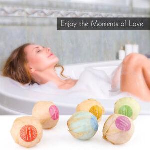 60g Bath Ball Natural Salt Flower Bubble  Bombs Skin Exfoliating 6 kinds of scen