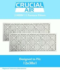2 12x30x1 MERV 11 Allergen Air Furnace Filters