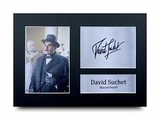 David Suchet Signed Pre Printed Autograph Photo Gift For a Poirot Fan