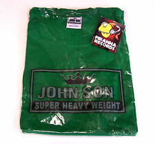 John Son Premium Quality Green T-Shirt XL 100% Cotton Piranha Records