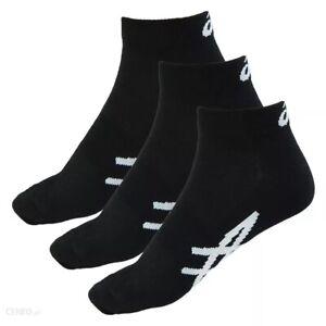 Asics Made For Sport Unisex 3 Pack Black Motion Dry Trainer Socks 132724 0904