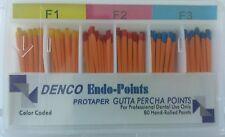 F1 F3 Gutta Percha Points Denco Box Of 60 Dental Root Canal Compatible Protaper