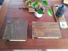 Timber Guest Book Album Reception Desk Hotel Motel Wedding Messages Restaurant