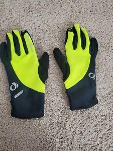 Pearl Izumi MENS Softshell Winter Cycling Glove- Black/Yellow