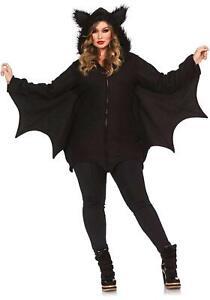 Leg Avenue Women's Cozy Bat Costume, Black, X-Large, Black, Size X-Large tAvH