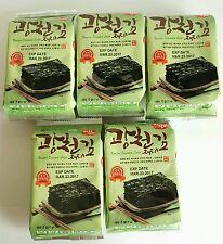 Korean Seasoned Roasted Seaweed Healthy Diet Snack Food 10 Packs
