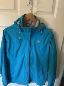 Womens Karrimor waterproof lightweight rain jacket with hood, Size 10 EXC CON