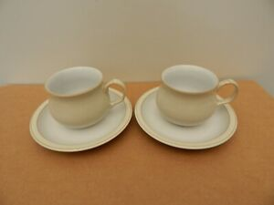 2 Denby linen Cups and Saucers, Excellent condition