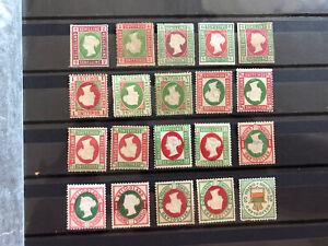 Helgoland Lot an ungebrauchten Briefmarken .