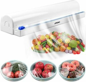 ArteiWo Food Tin/Alumi/Plastic Wrap Dispenser with Cutter Max 12 Inch X 200 Ft