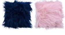 Soft Color Faux Fur Throw Pillow