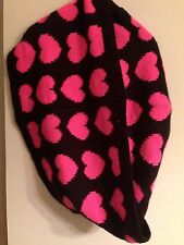 H&M CONSCIOUS TREND DIVIDED HEART SCARF INFINITY PINK BLACK NWT FINAL DAYS SOLD