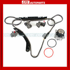 Timing Chain Kit W/O Sprockets + Water Pump for Infiniti Nissan 3.5L DOHC VQ35DE