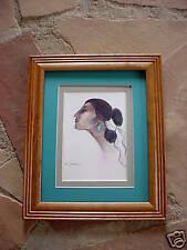 R C Gorman ANGELINA, framed, matted Navajo Print