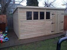 GARDEN SHED SUPER HEAVY DUTY TANALISED 14X6 PENT 19MM T&G. 3X2.