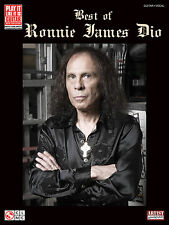 "Ronnie James Dio Best Of ""Play It Like It Is"" Guitar Tab Book NEW!"