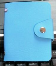 New PU Leather Credit Card Holder Organizer ID Holder-Sky Blue