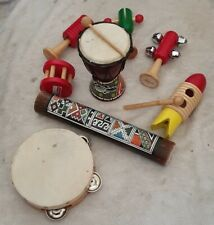 Bundle Of Wooden Musical Instruments Percussion Hand Toys Baby Toddler Musical