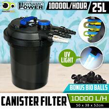 Aquarium External Canister Filter Aqua Fish Tank Pond UV Light +Media 10000L/H