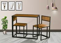 WestWood Compact Kitchen Dining Table and 2 Chairs Space Saving Set Home DS14