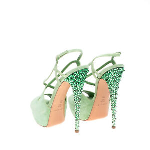 RRP €710 CASADEI Leather Slingback Sandals EU39 UK6 US9 Candy Heel Made in Italy
