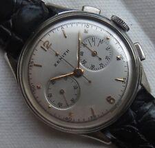 Zenith Chronograph mens wristwatch nickel chromiun case load manual cal. 143-6