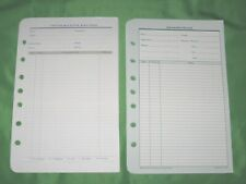 Classic 55 Pages Information Record Franklin Covey Planner Refill Fill